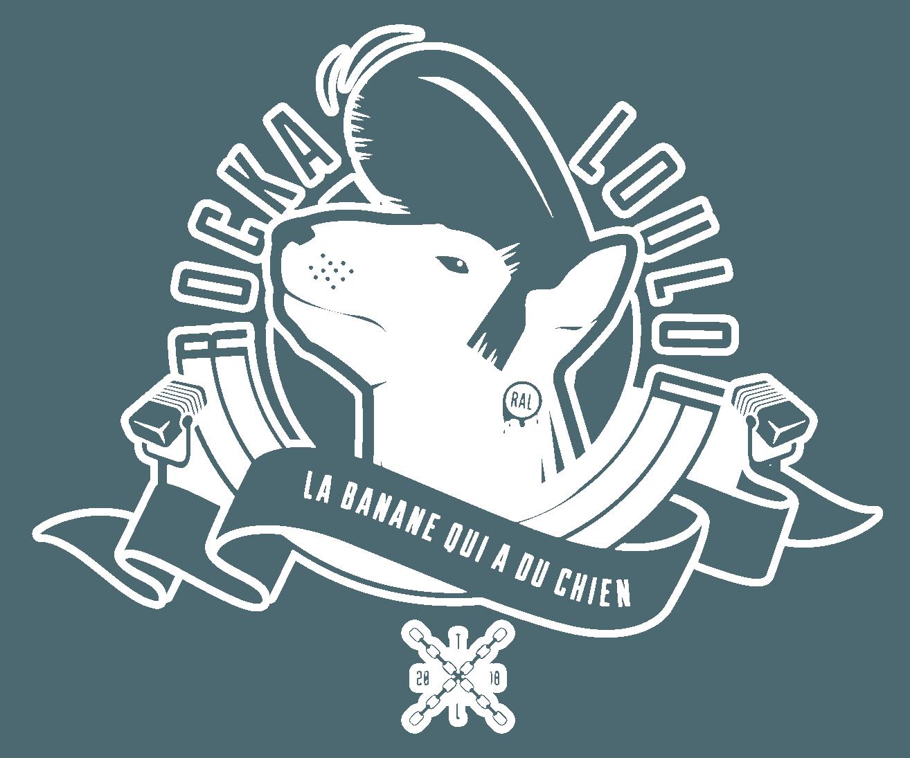 Logo Rockaloulou, marque de vêtements rockabilly